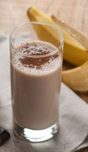 smoothie brule graisse banane cacao